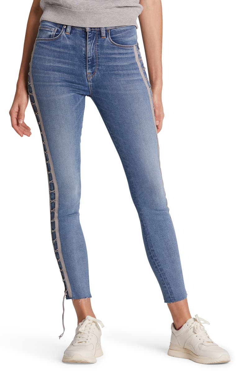 HUDSON JEANS Barbara High Waist Crop Skinny Jeans, Main, color, DAZZLE