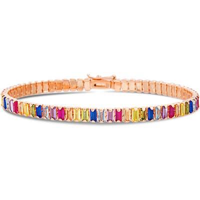 Lesa Michele Baguette Tennis Bracelet
