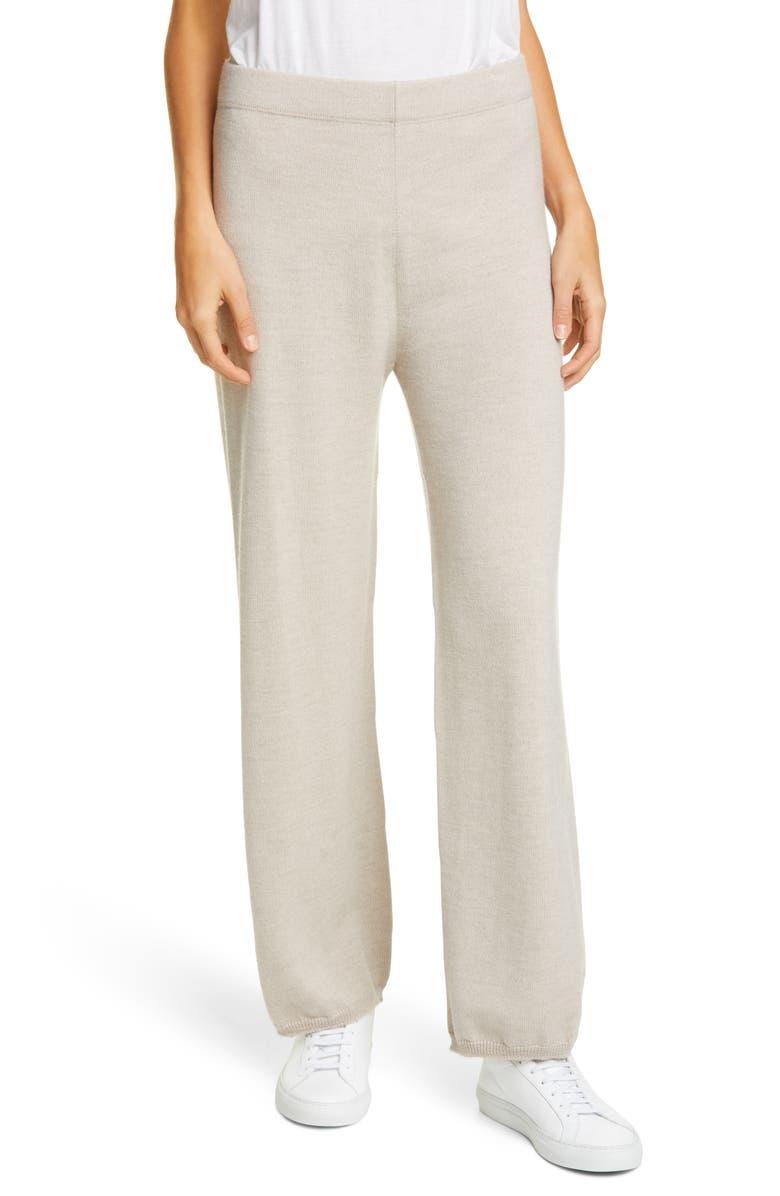 MAX MARA LEISURE Sofocle Virgin Wool Knit Pants, Main, color, 250