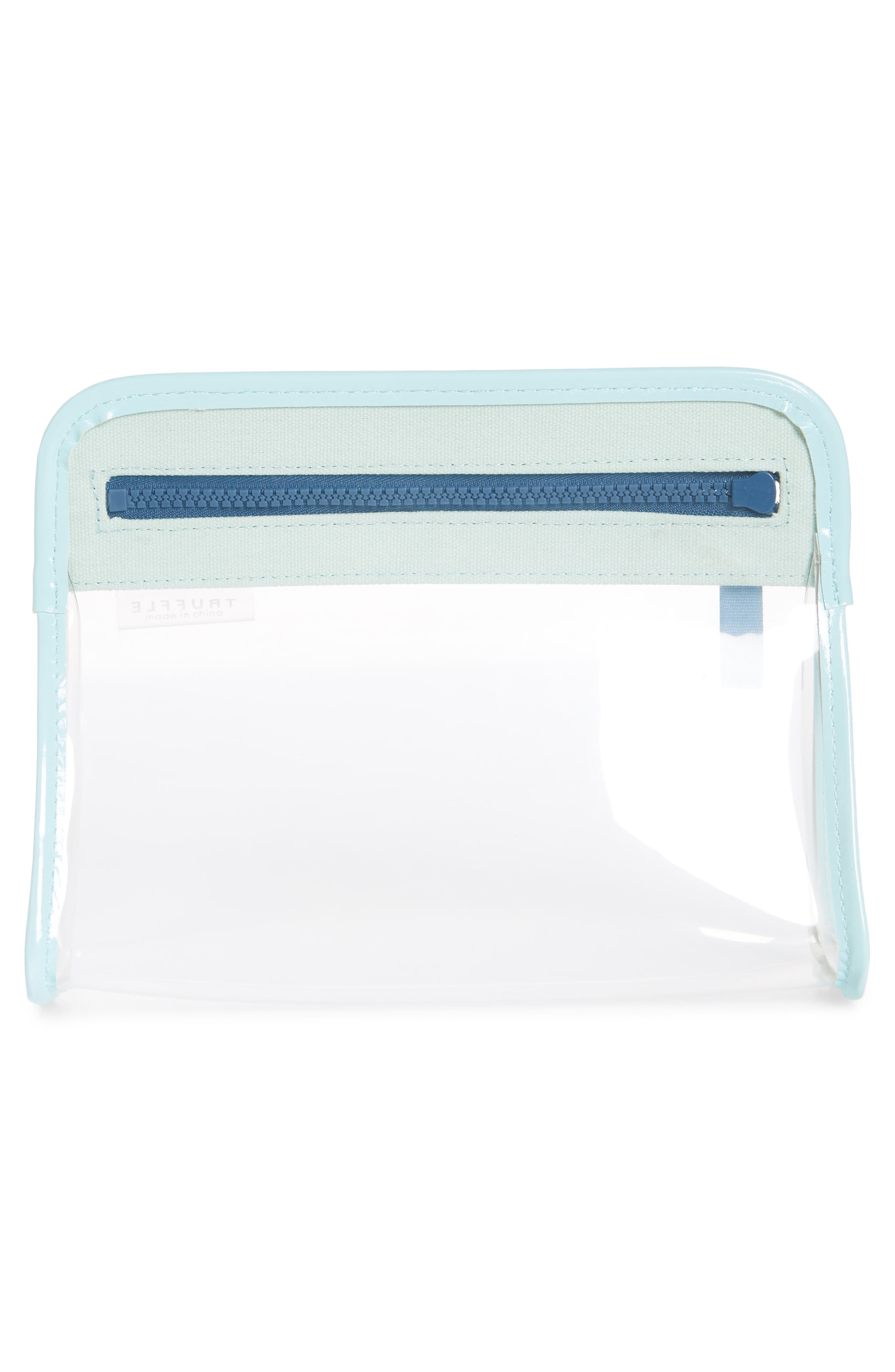,                             Small Clarity Clear Pouch,                             Alternate thumbnail 2, color,                             SEAFOAM