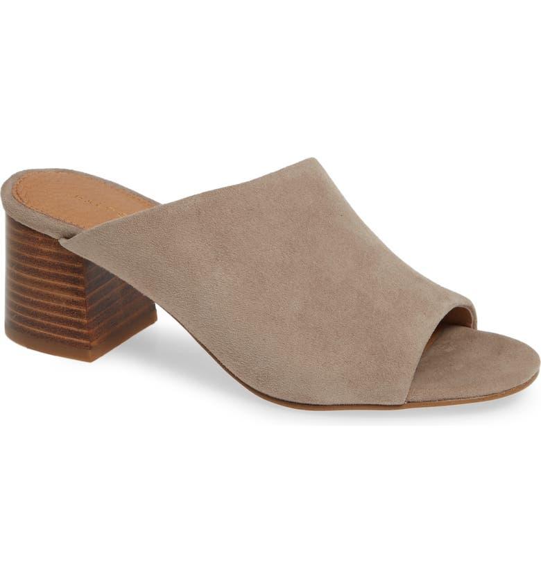 HALOGEN<SUP>®</SUP> Faye Asymmetrical Slide Sandal, Main, color, STONE SUEDE