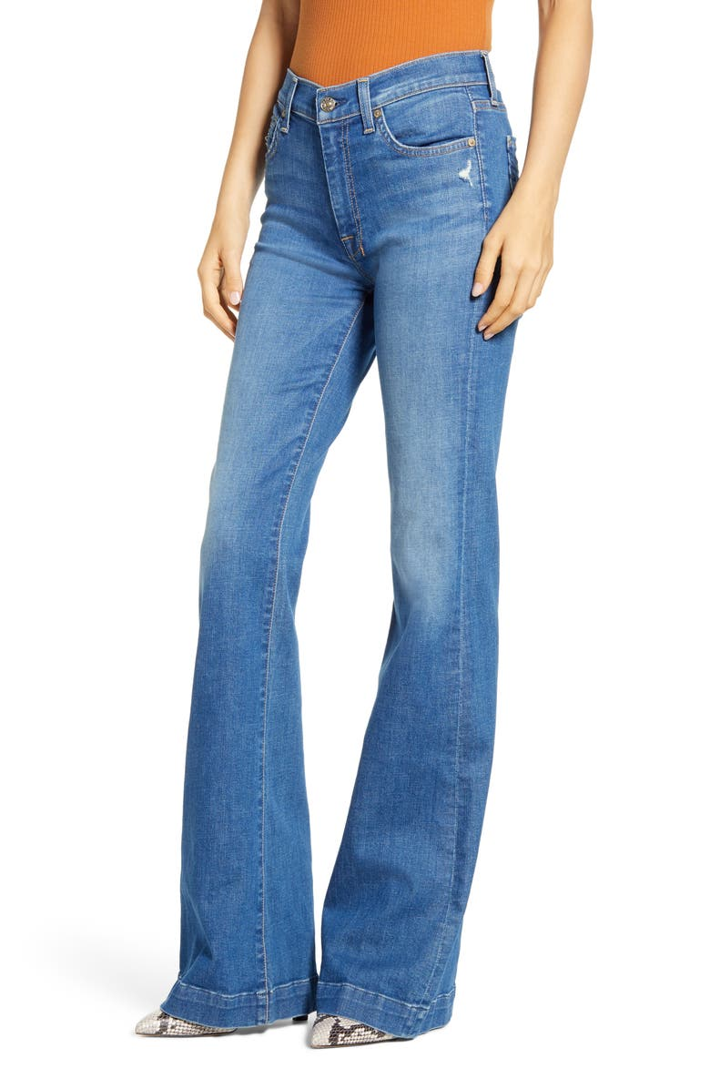 7 FOR ALL MANKIND<SUP>®</SUP> Dojo High Waist Flare Jeans, Main, color, NORTHSTAR