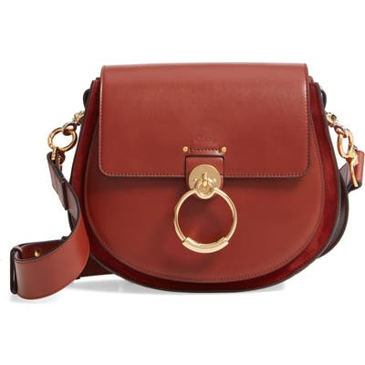 Chloe Medium Tess Calfskin Leather Shoulder Bag - Brown