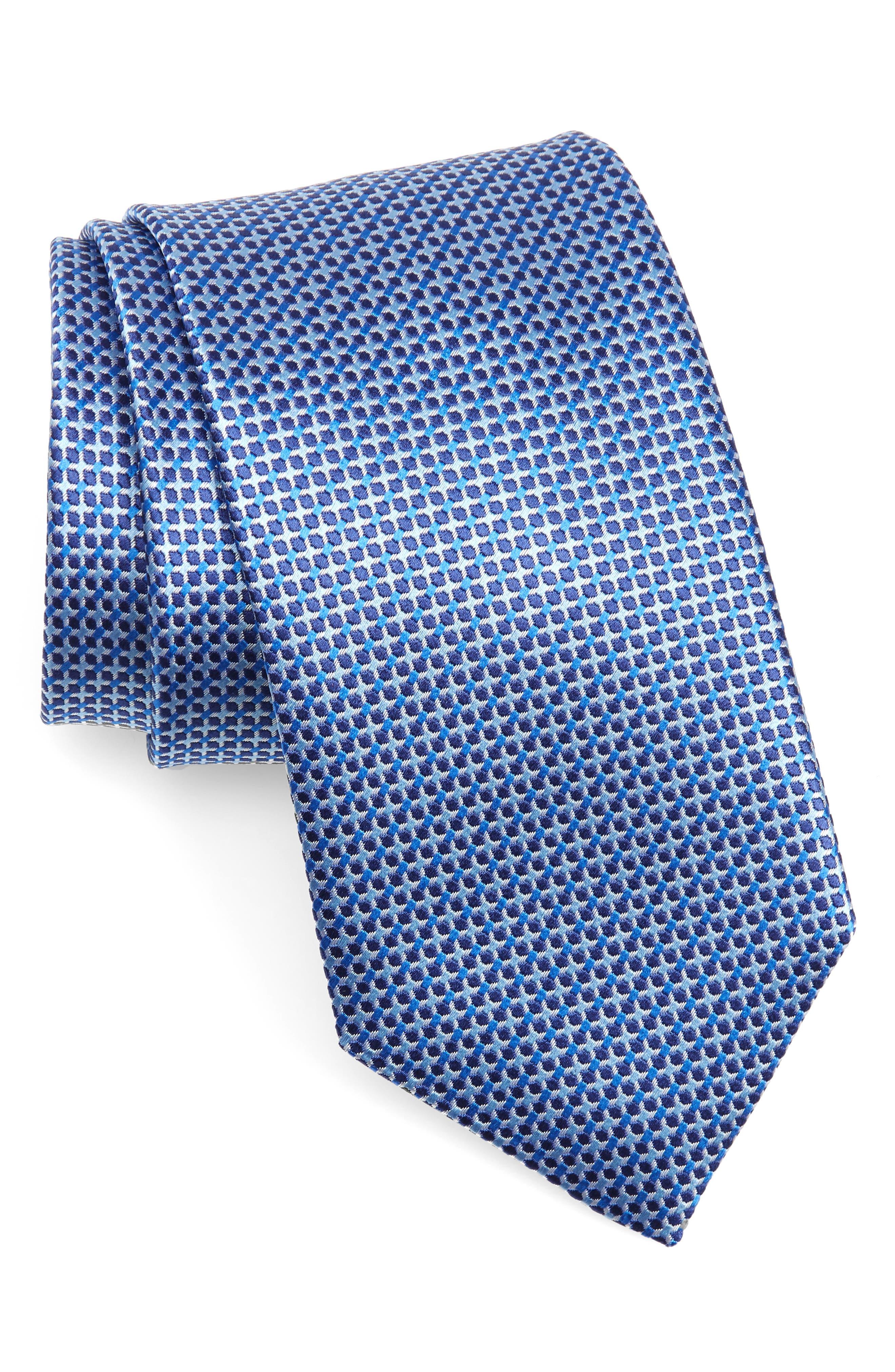 ,                             Geometric Silk Tie,                             Main thumbnail 1, color,                             NAVY