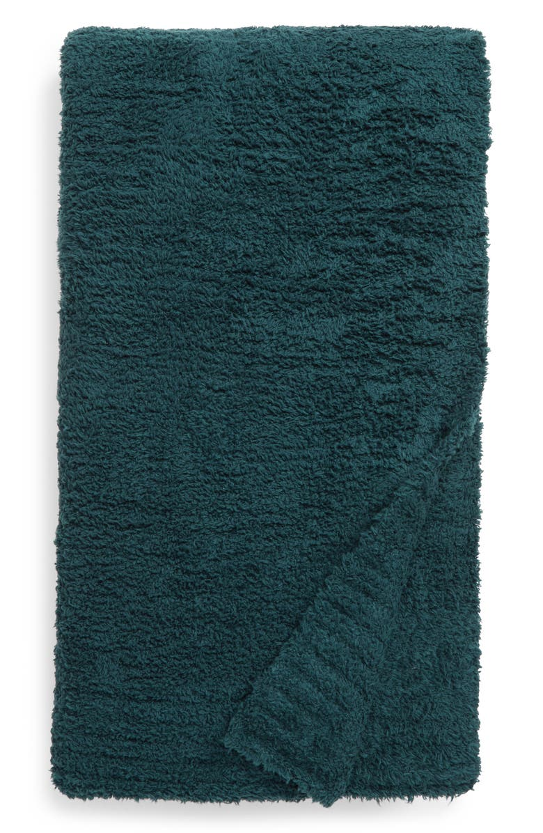 BAREFOOT DREAMS<SUP>®</SUP> CozyChic<sup>™</sup> Throw Blanket, Main, color, PINE GREEN
