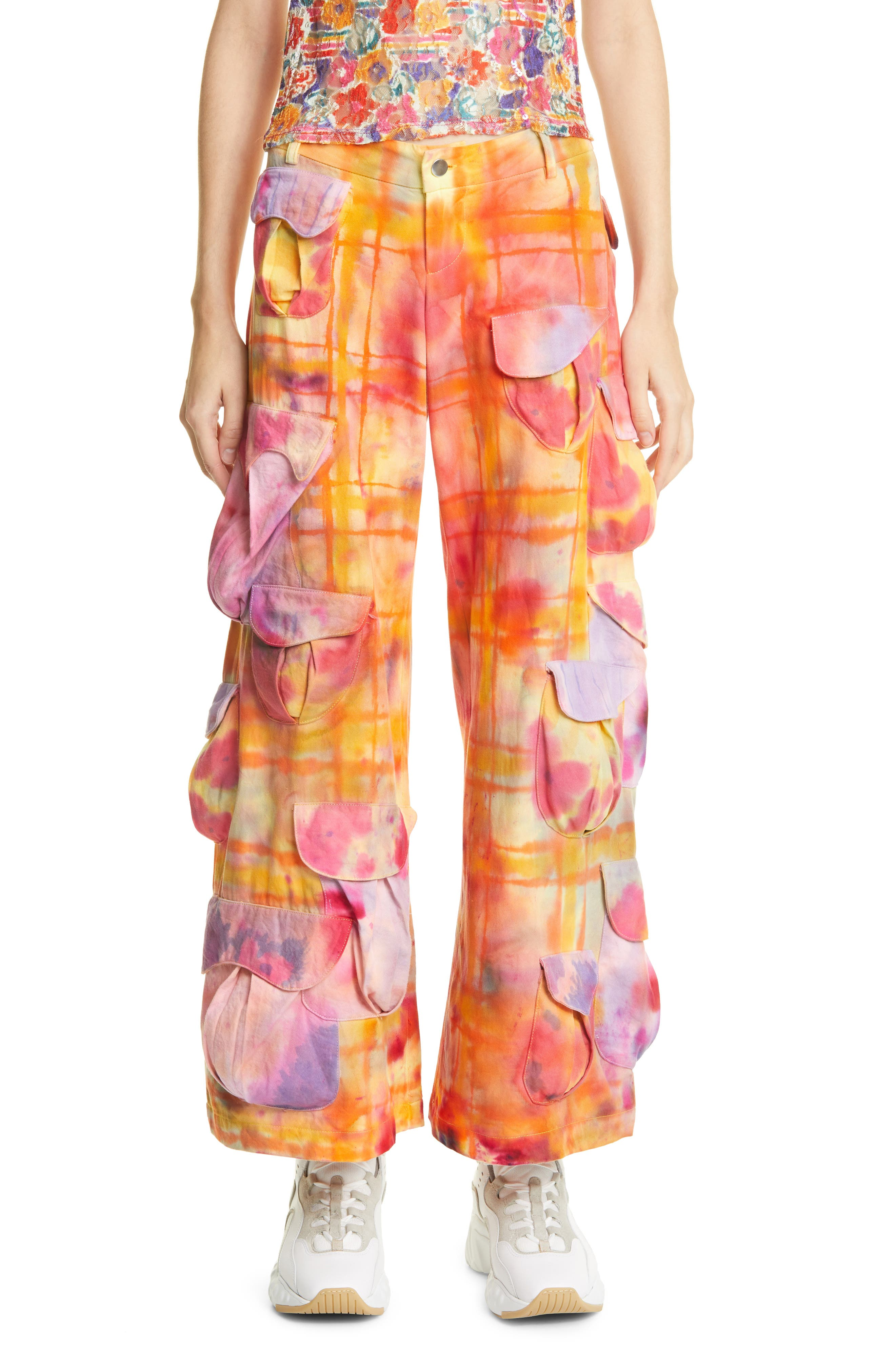 Desert Runway Tie Dye Organic Cotton Cargo Pants