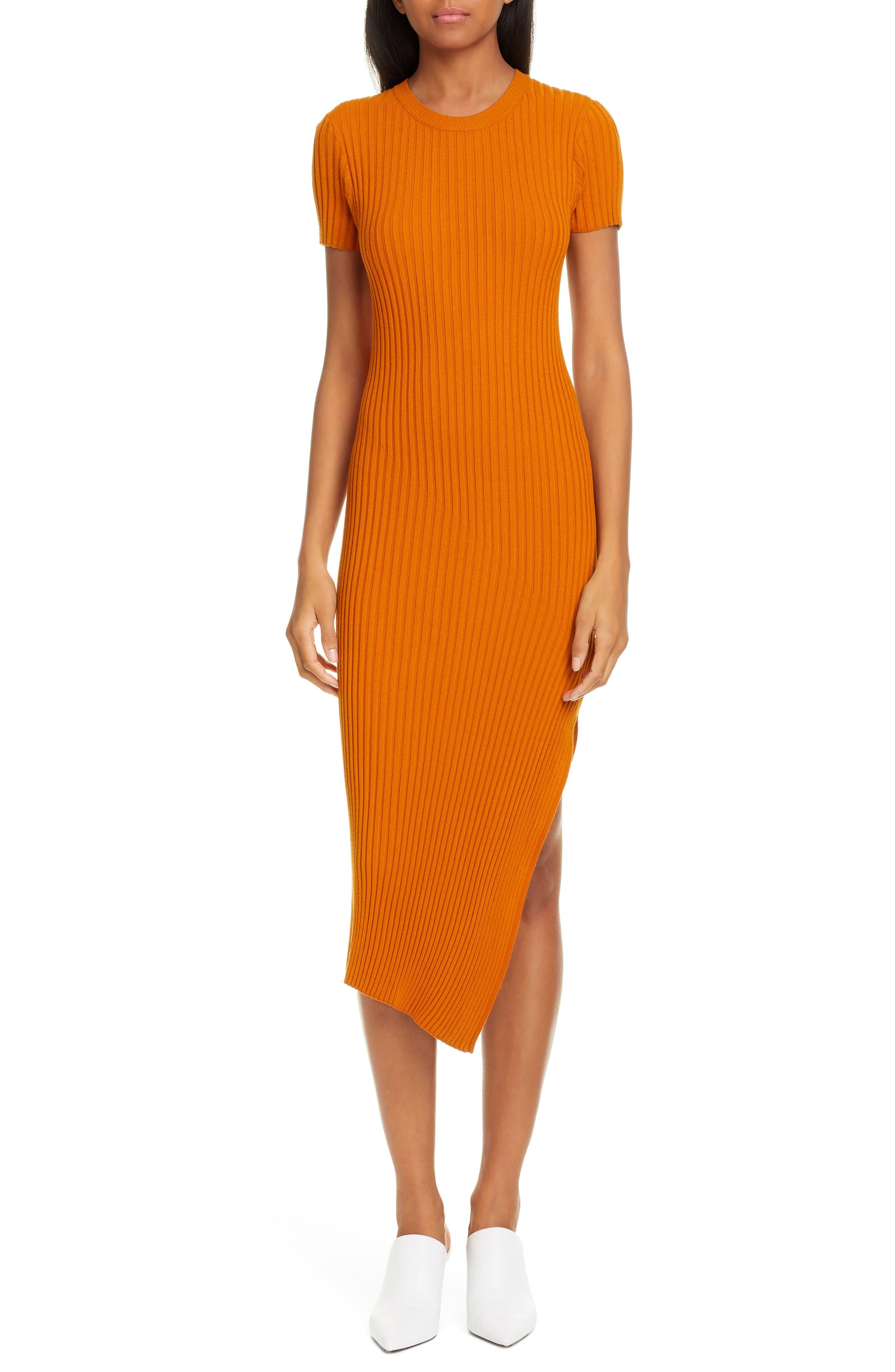 A.l.c. Minetta Rib Sweater Dress, Beige