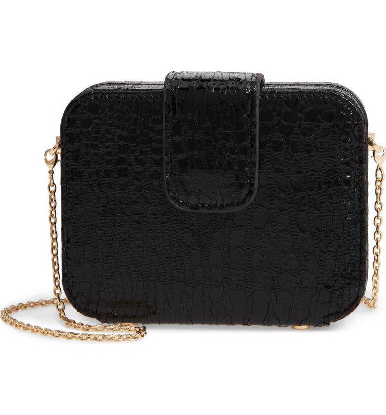 BP. Crackle Crossbody Bag, Main, color, BLACK