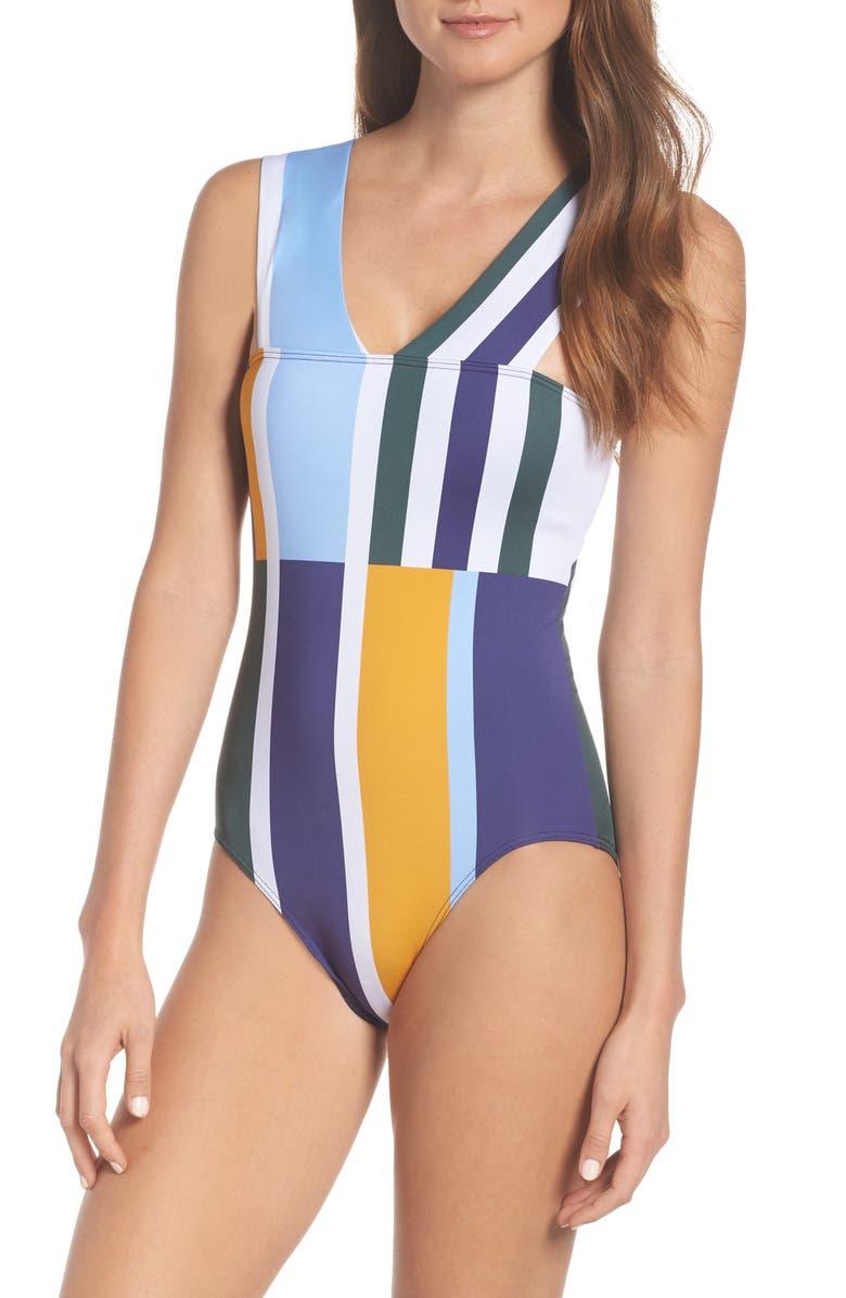 MEI L'ANGE Mei L'ange Tori One-Piece Swimsuit, Main, color, MULTI-STRIPE
