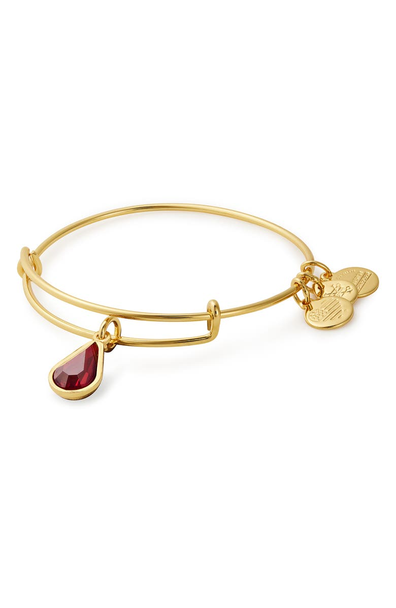 ALEX AND ANI Birthstone Adjustable Wire Bangle, Main, color, 930