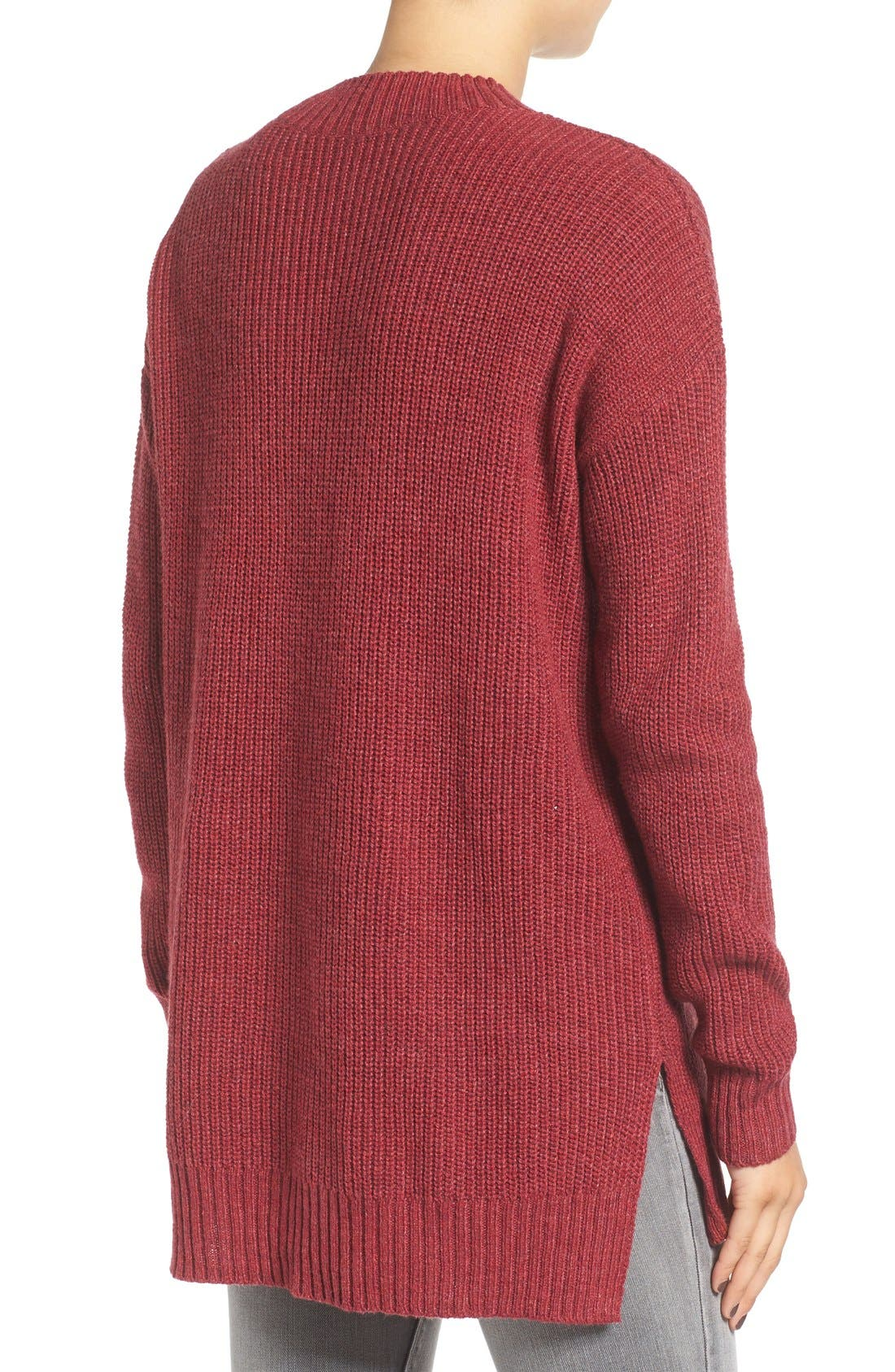 ,                             Ribbed Mock Neck Pullover,                             Alternate thumbnail 28, color,                             601