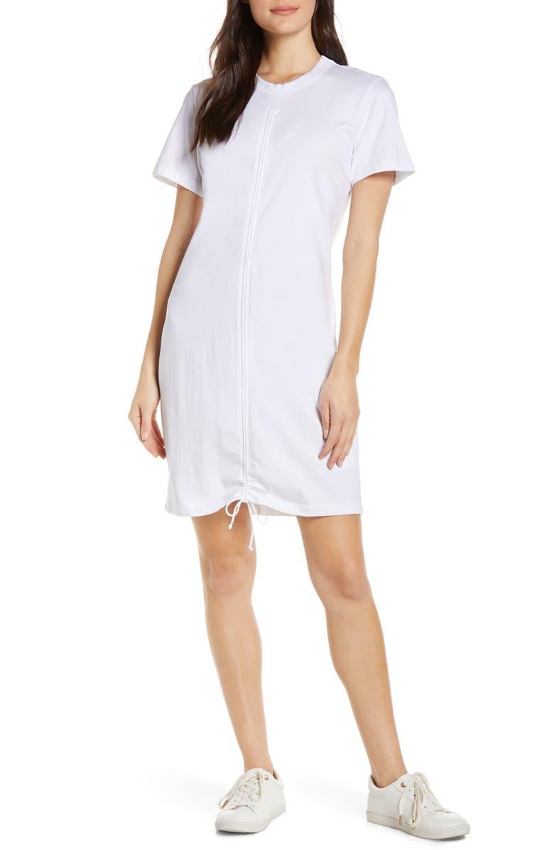 CAARA Franco Ruched Dress, Main, color, 102