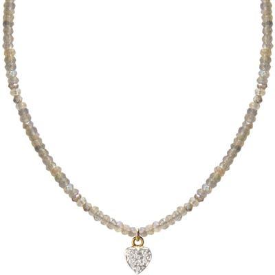 Jane Basch Designs Diamond Heart Pendant Necklace