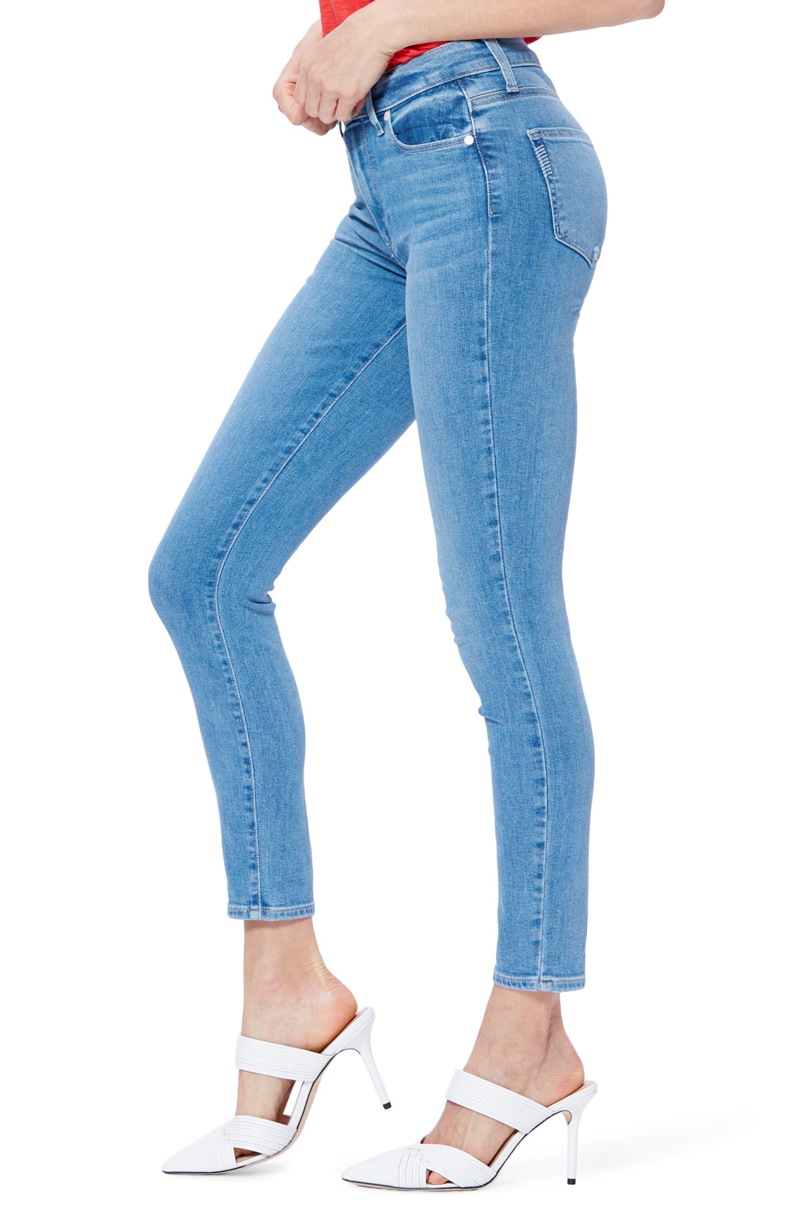 ,                             Transcend Vintage - Hoxton High Waist Ankle Skinny Jeans,                             Alternate thumbnail 4, color,                             400