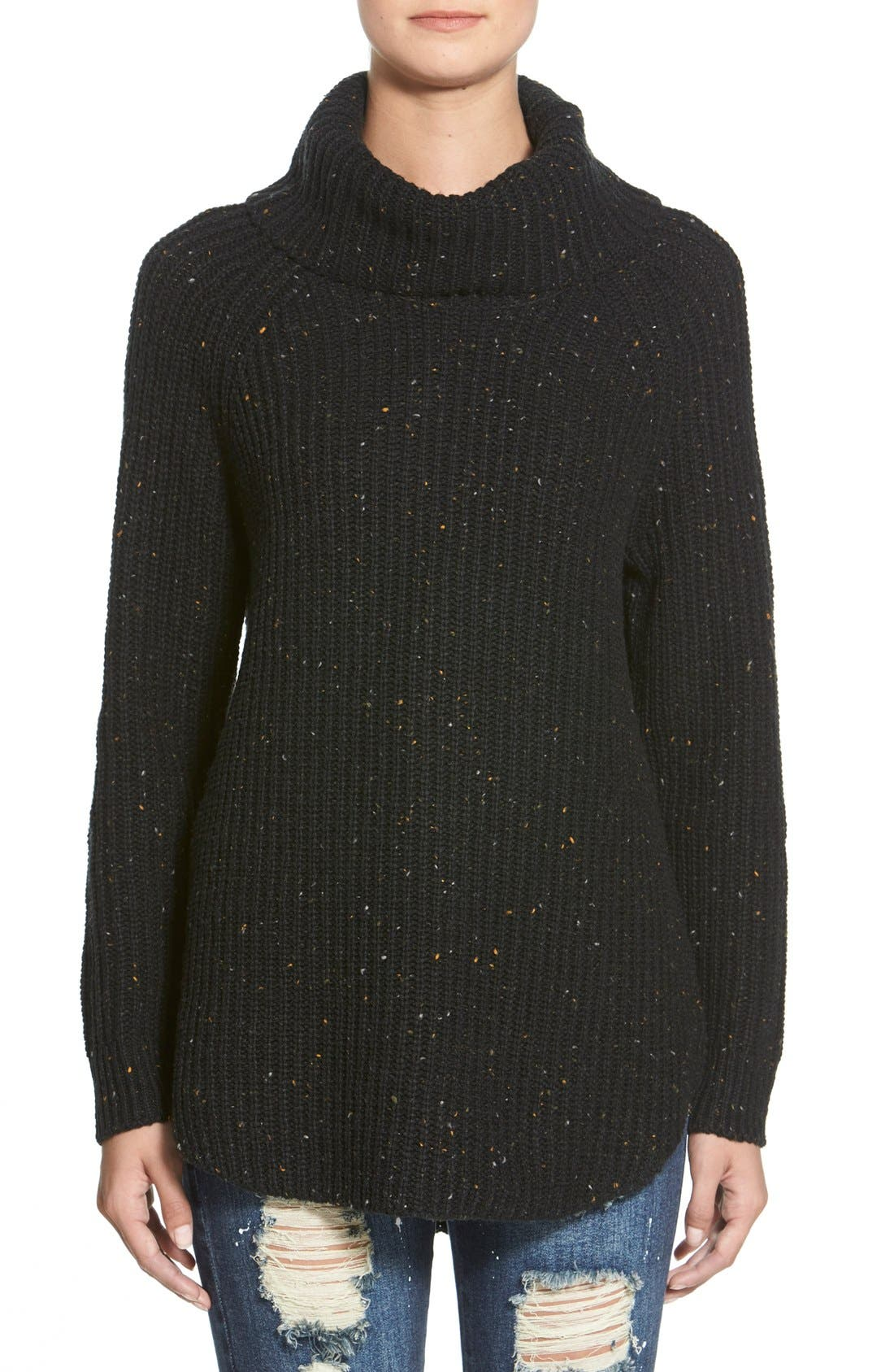 ,                             Turtleneck Sweater,                             Main thumbnail 1, color,                             001