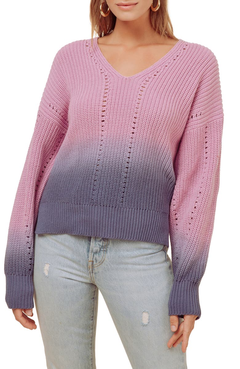 ASTR THE LABEL Colie Ombré Sweater, Main, color, 650