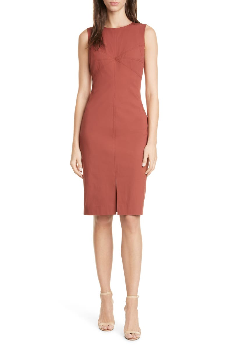 DVF Elio Sheath Dress, Main, color, JAM