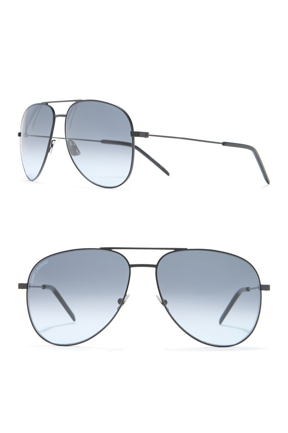 Image of Saint Laurent 59mm Aviator Sunglasses