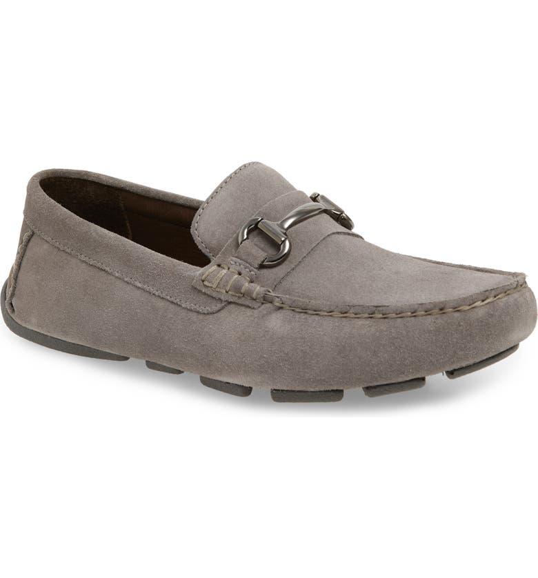 1901 Redondo Driving Shoe, Main, color, LIGHT GREY SUEDE