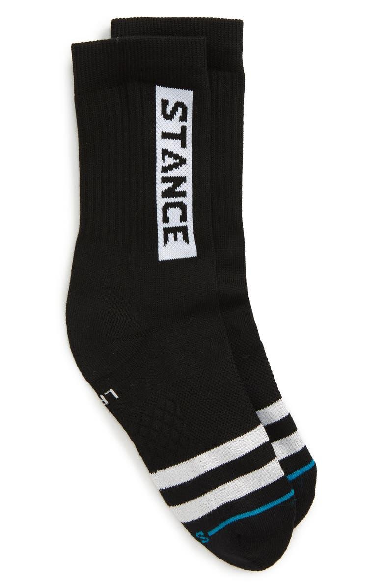 STANCE OG Crew Socks, Main, color, BLACK