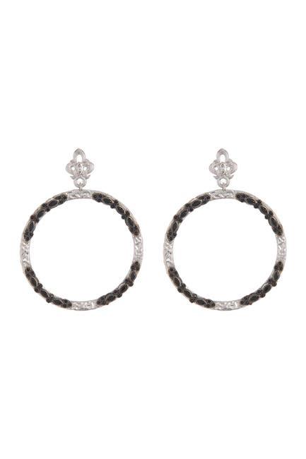 Image of ARMENTA Medium Open Circle Drop Earrings