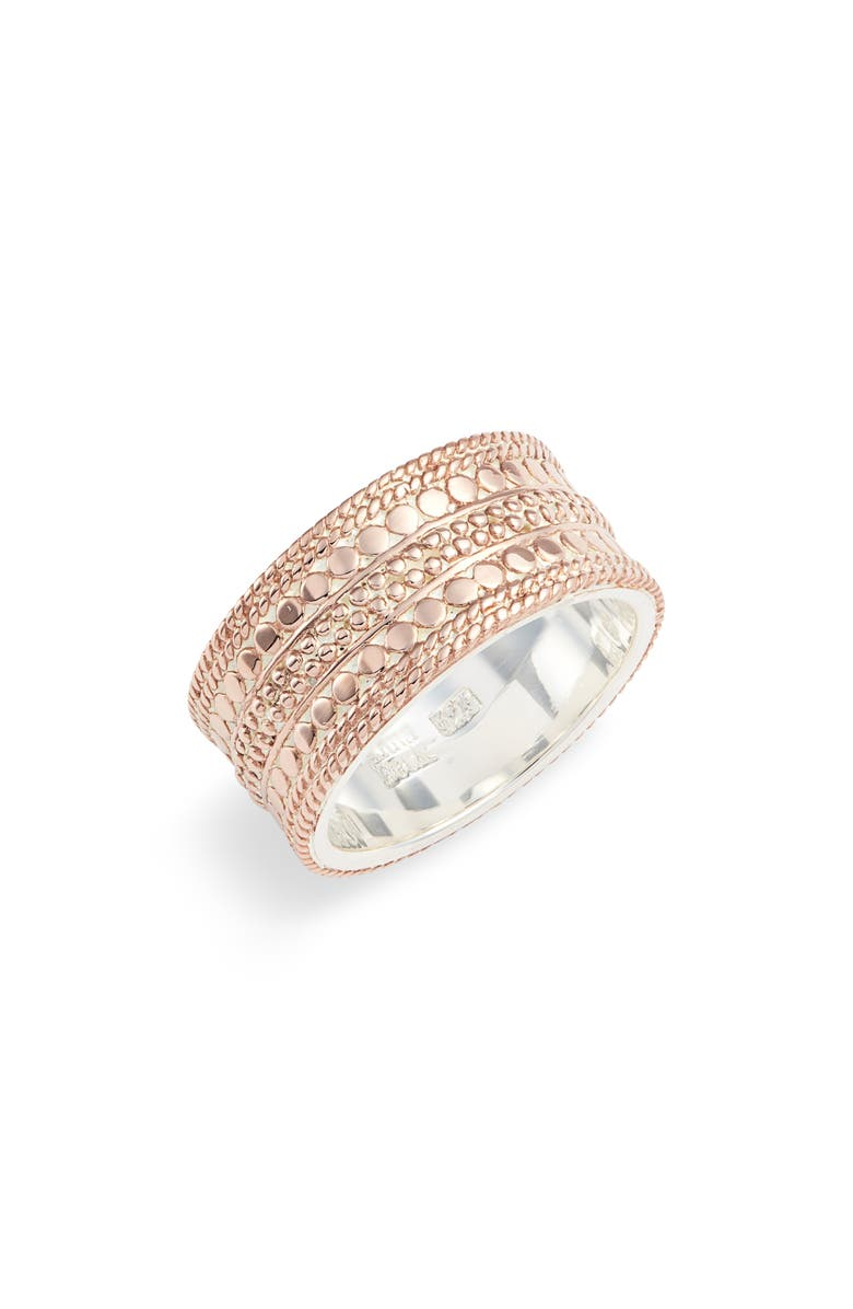 ANNA BECK Cigar Band Ring, Main, color, ROSE GOLD