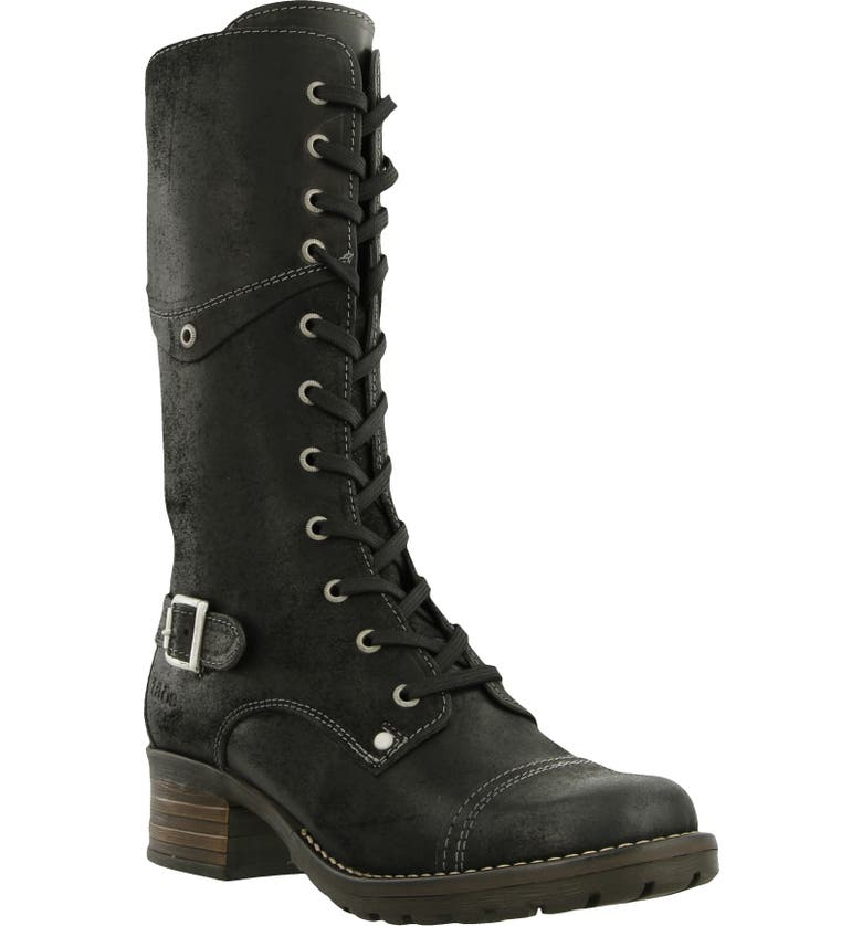 TAOS Crave Tall Boot, Main, color, BLACK RUGGED LEATHER