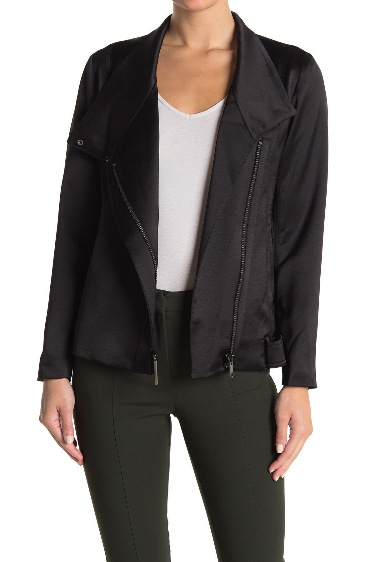 Image of REISS Harriet Soft Biker Jacket