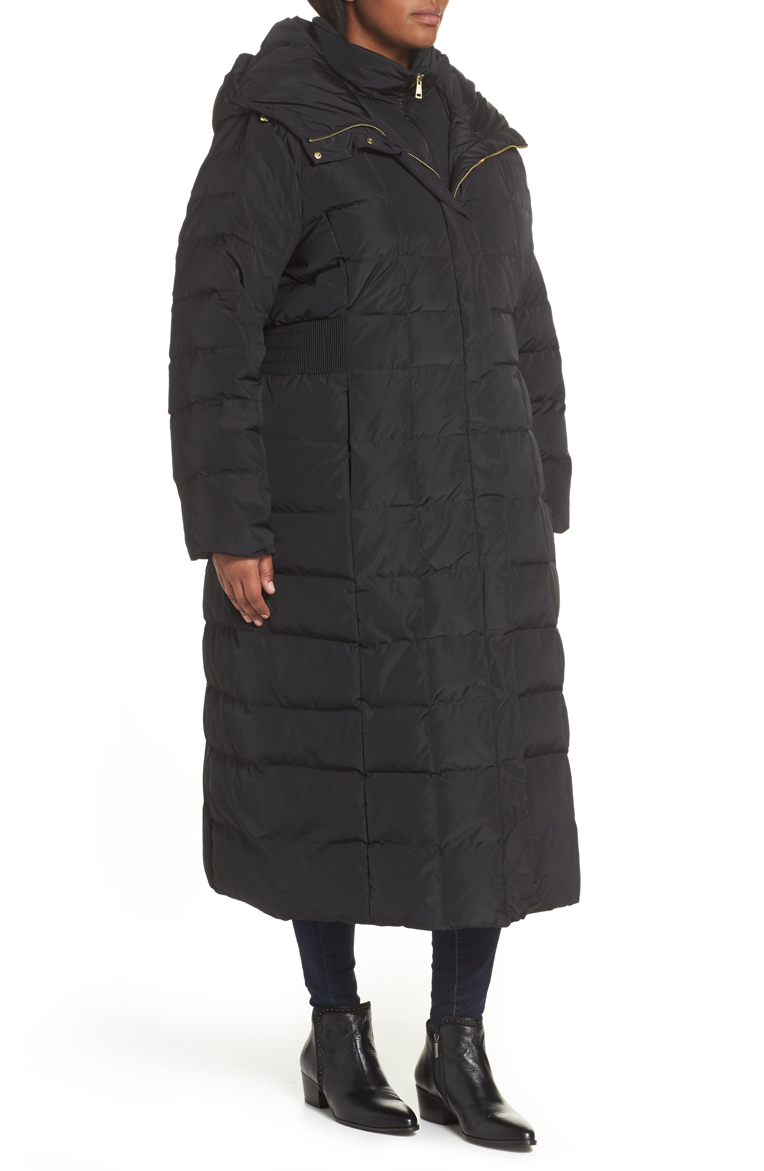 ,                             Quilted Coat with Inner Bib,                             Alternate thumbnail 4, color,                             001