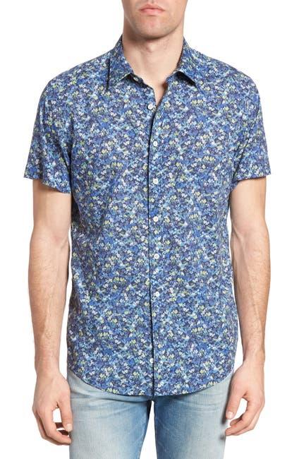 Image of RODD AND GUNN Hamlins Hill Print Slim Fit Shirt