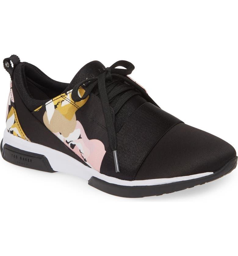 TED BAKER LONDON Cepap Sneaker, Main, color, BLACK SATIN