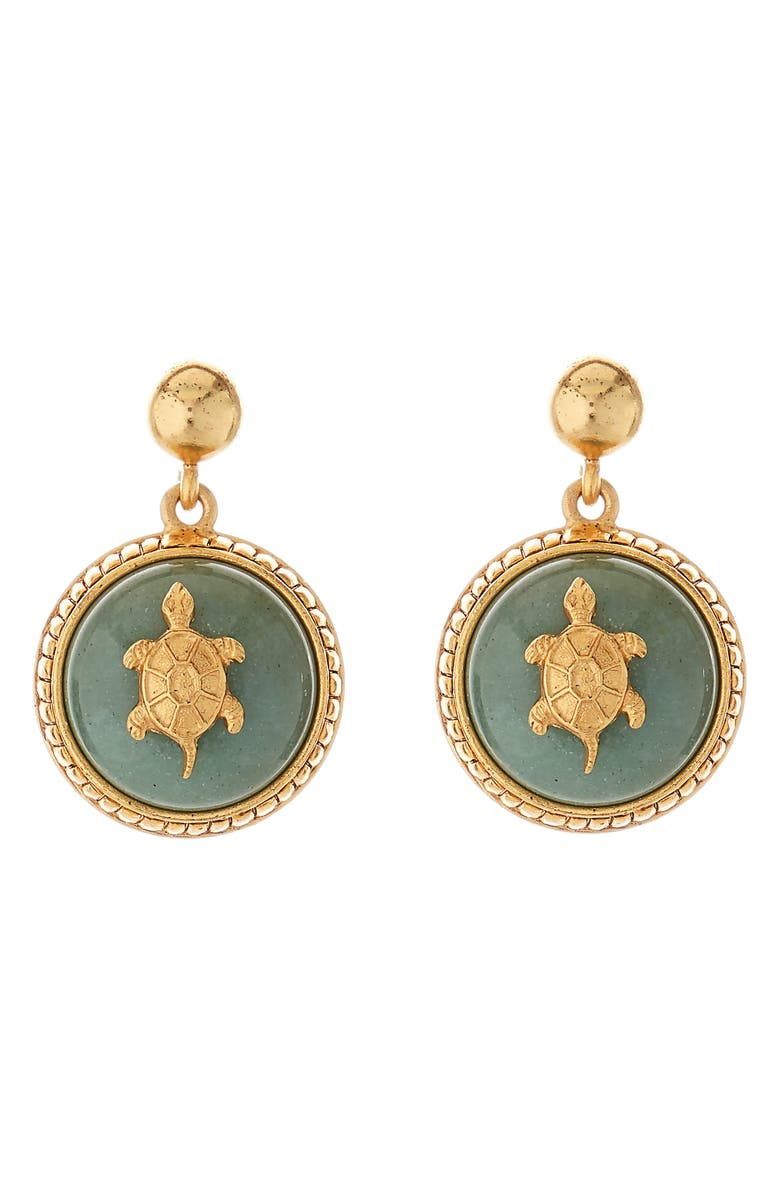 OSCAR DE LA RENTA Runway Drop Earrings, Main, color, JUNIPER