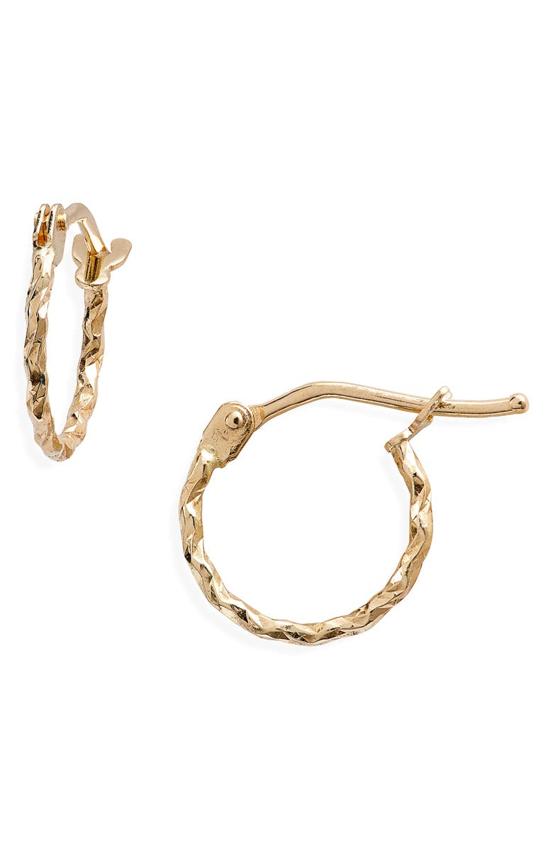 BONY LEVY Textured Twisted Hoop Earrings, Main, color, YELLOW GOLD