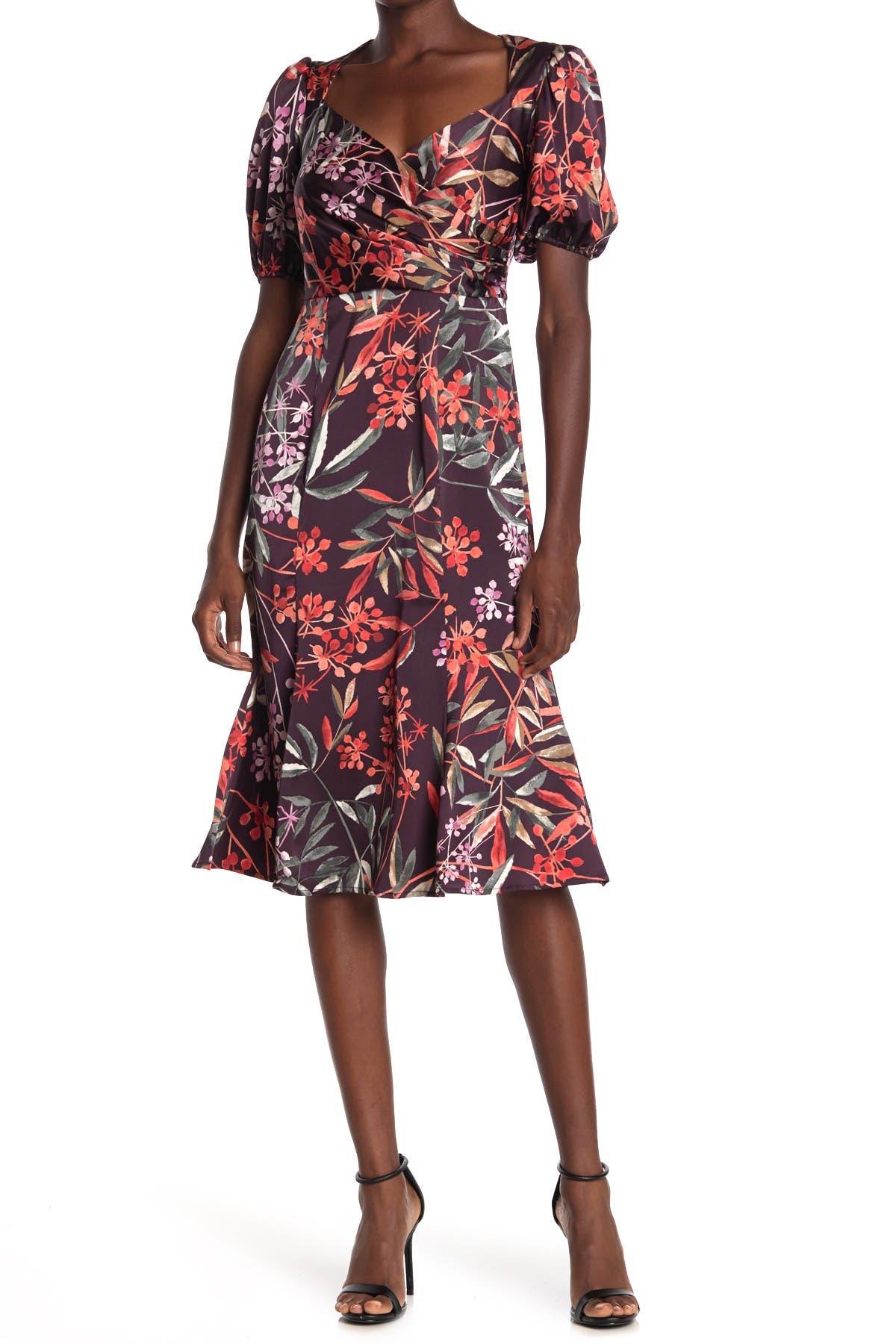 Image of London Times Bloom Berries Fit & Flare Dress