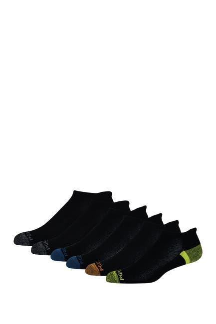 Image of PGA TOUR No Show Heel Pad Socks - Pack of 6