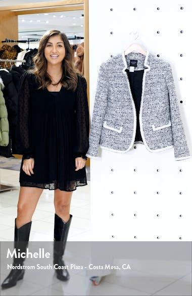 Solid Trim Tweed Jacket, sales video thumbnail