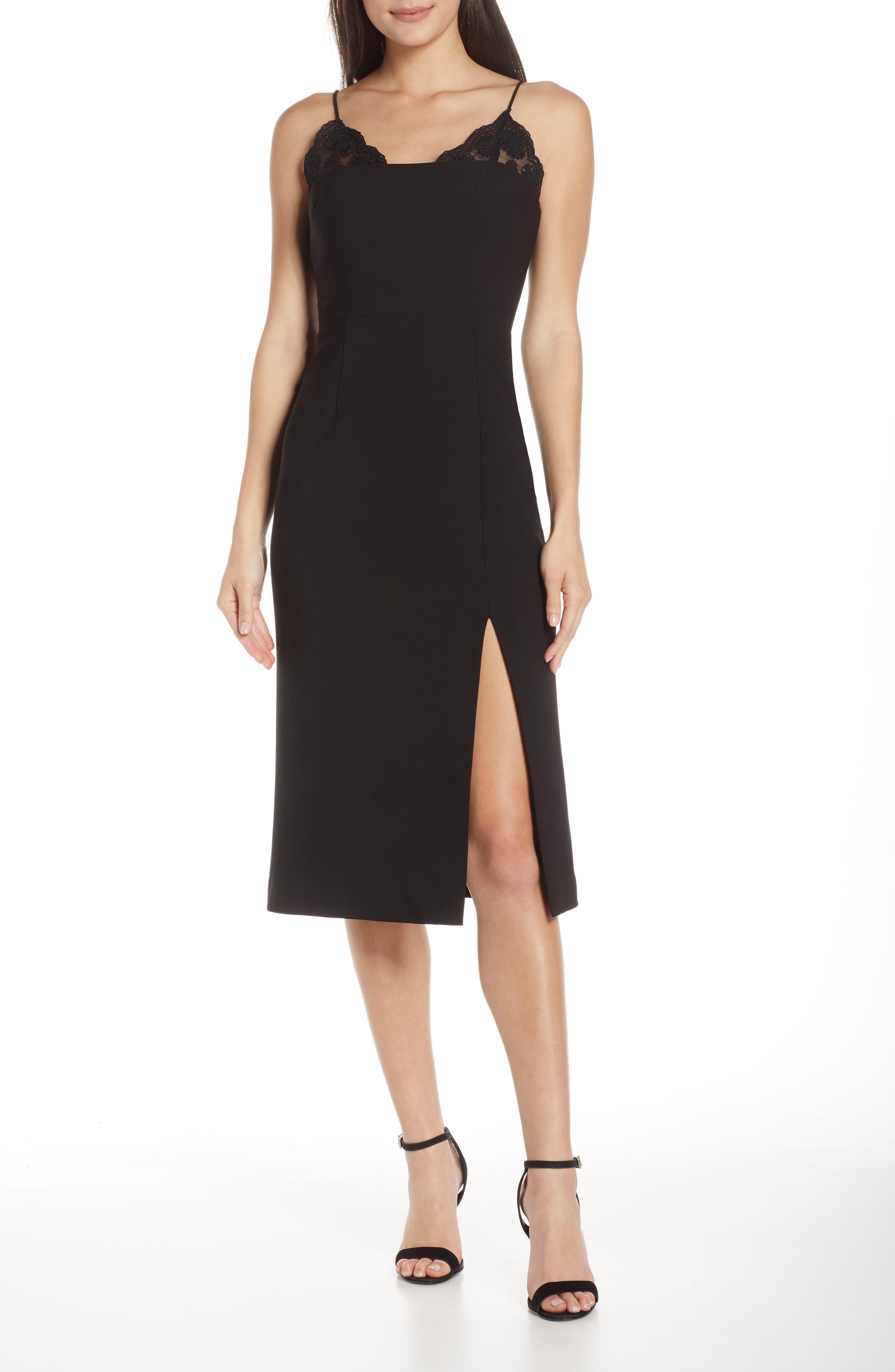 Finders Keepers Kobie Midi Dress, Black