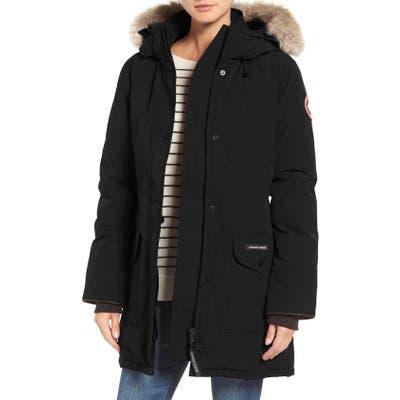 Canada Goose Trillium Fusion Fit Hooded Parka With Genuine Coyote Fur Trim, (2-4) - Black