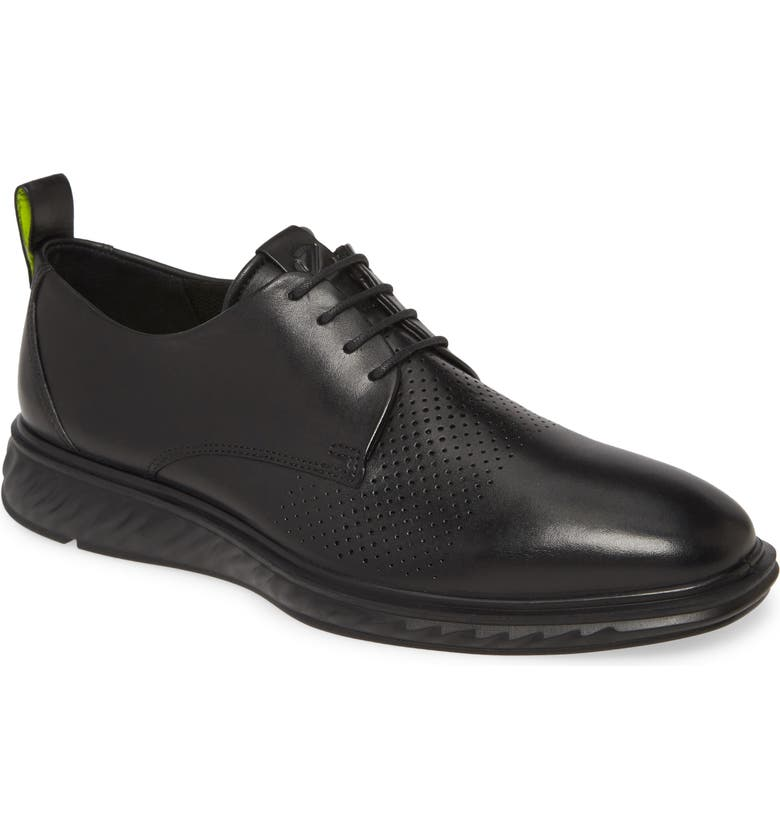 ECCO ST.1 Hybrid Lite Modern Plain Toe Derby, Main, color, BLACK