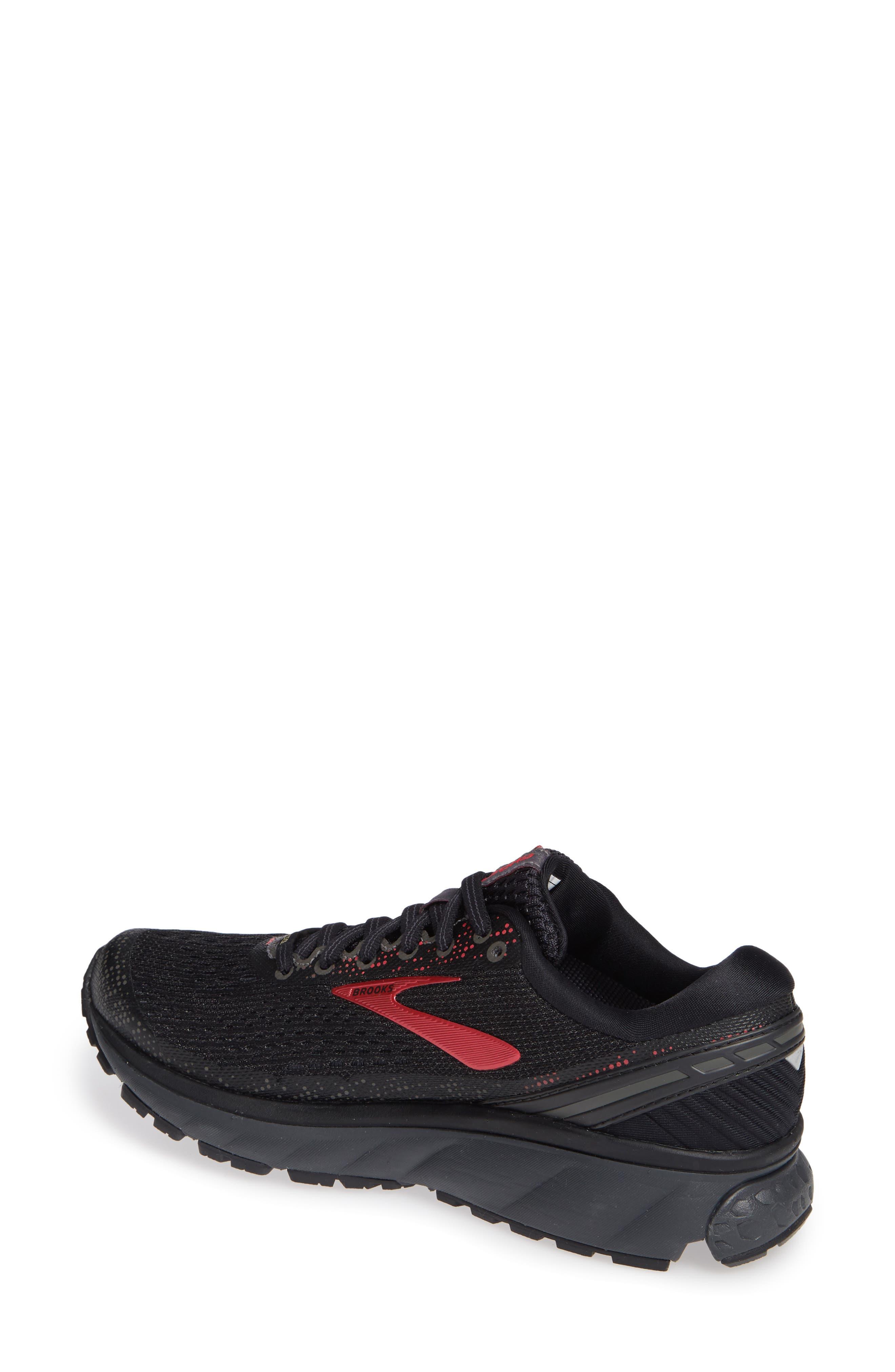 ,                             Ghost 11 GTX Gore-Tex<sup>®</sup> Waterproof Running Shoe,                             Alternate thumbnail 2, color,                             BLACK/ PINK/ EBONY