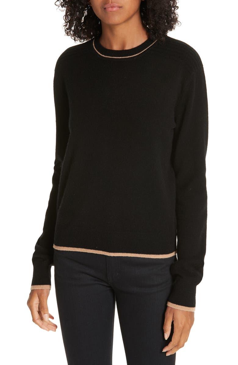 LA LIGNE Neat Wool & Cashmere Sweater, Main, color, 008