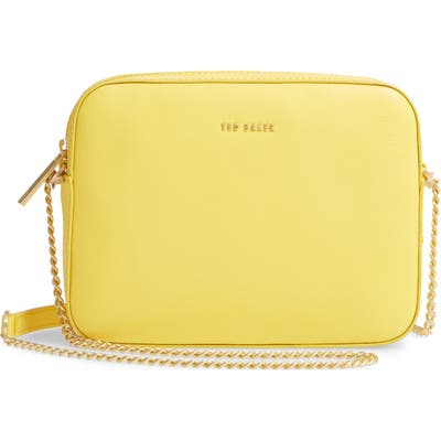 Ted Baker London Judithh Bow Detail Leather Crossbody Bag - Yellow