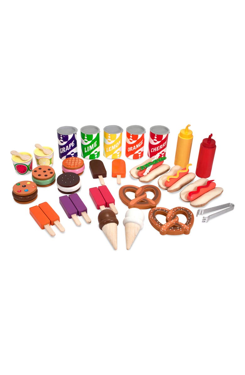 MELISSA & DOUG Let's Play Snack & Sweet Cart, Main, color, MULTI