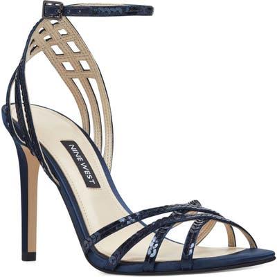 Nine West Ivonne Ankle Strap Sandal- Blue