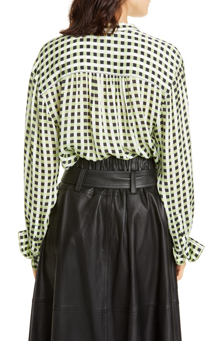 PROENZA SCHOULER White Label Gingham Georgette Blouse, Main, color, 001