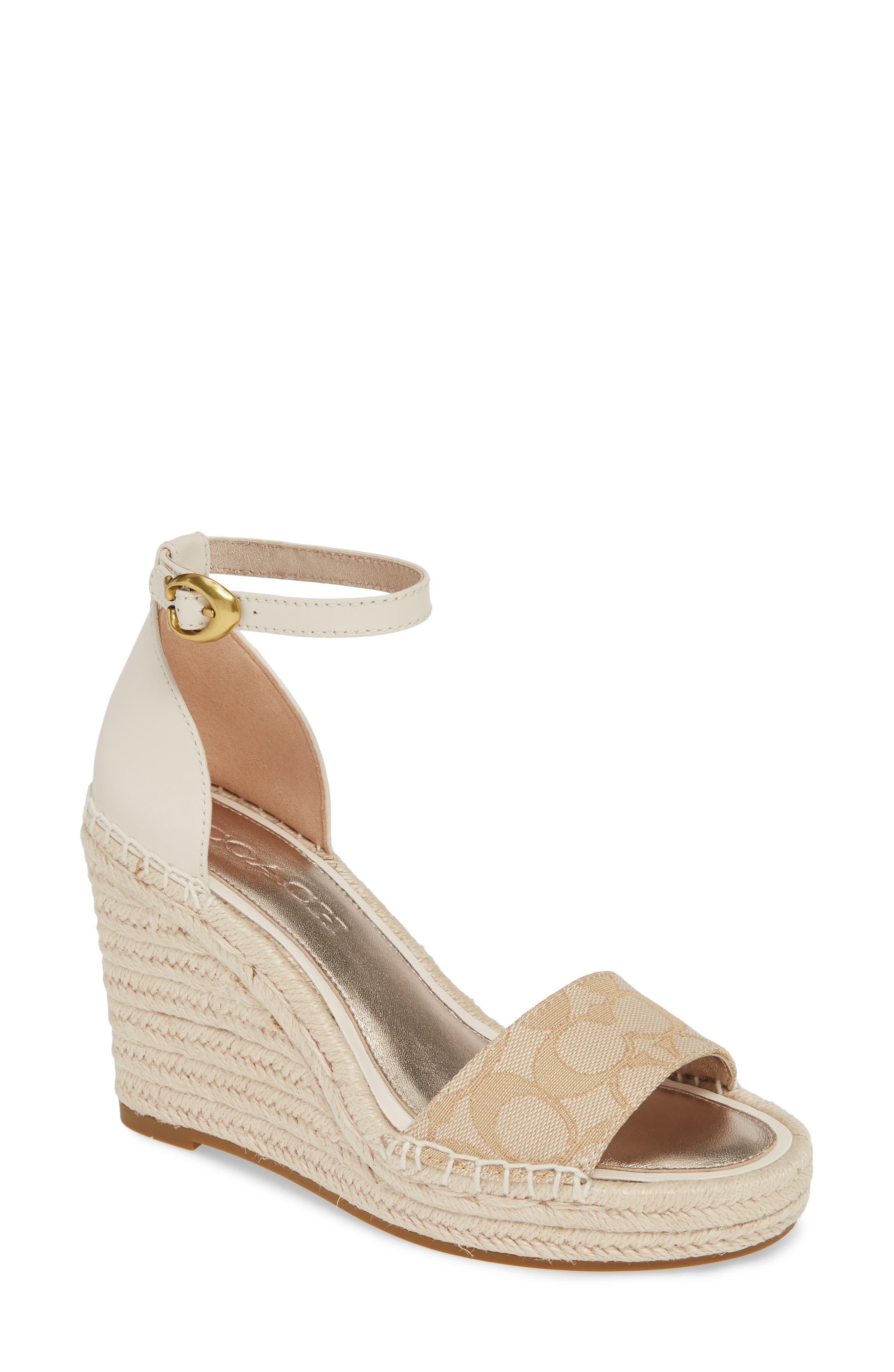 Coach Kit Espadrille Wedge Platform Sandal