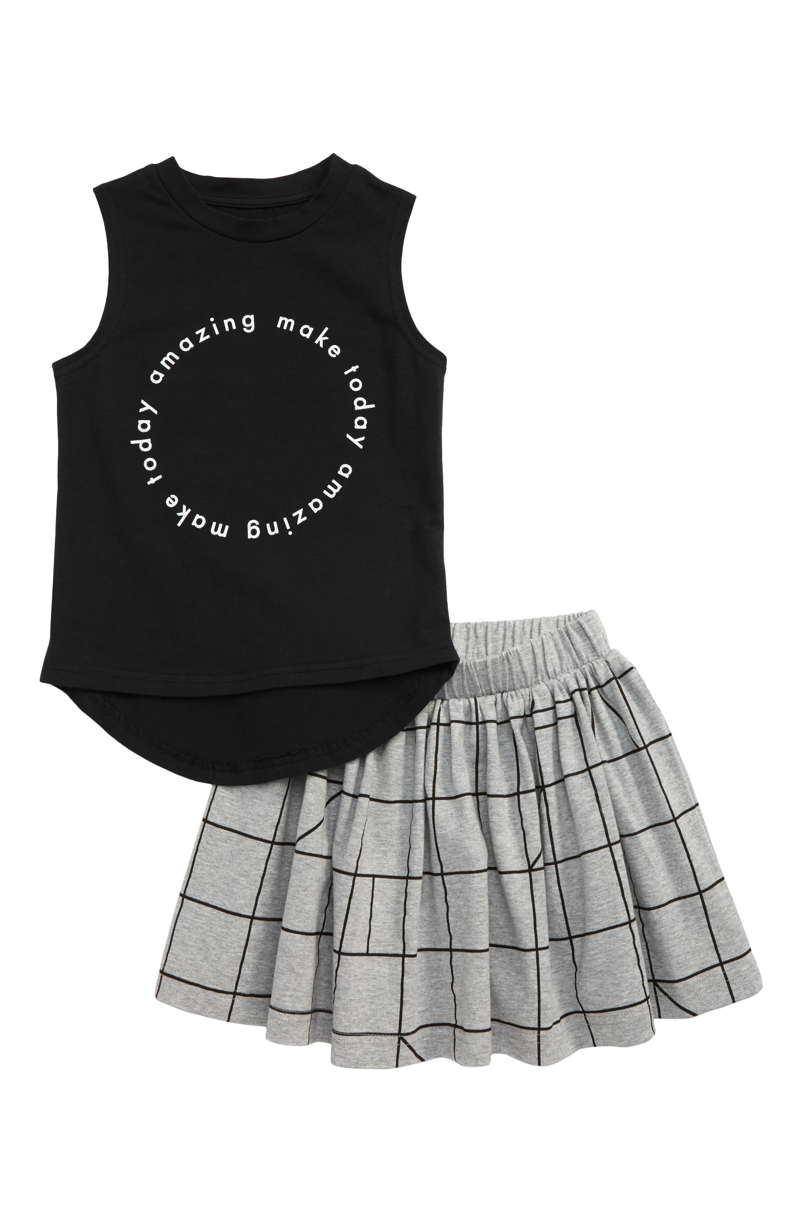 Toddler Girls Tiny Tribe Geo Tank  Skirt Set