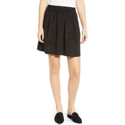 Noisy May Lauren Faux Suede Miniskirt, Black