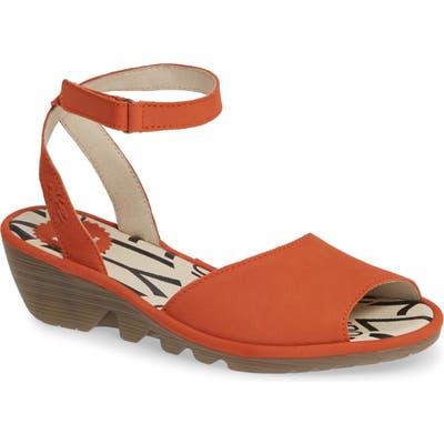 Fly London Pato Wedge Sandal, Orange