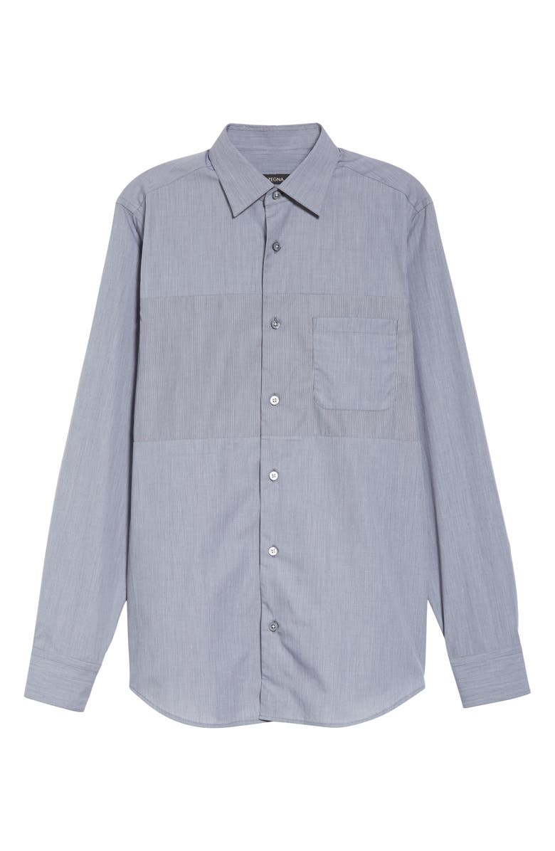 Z ZEGNA Extra Slim Fit Solid Shirt, Main, color, CHARCOAL